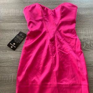 Strapless PINK Bebe dress NWT
